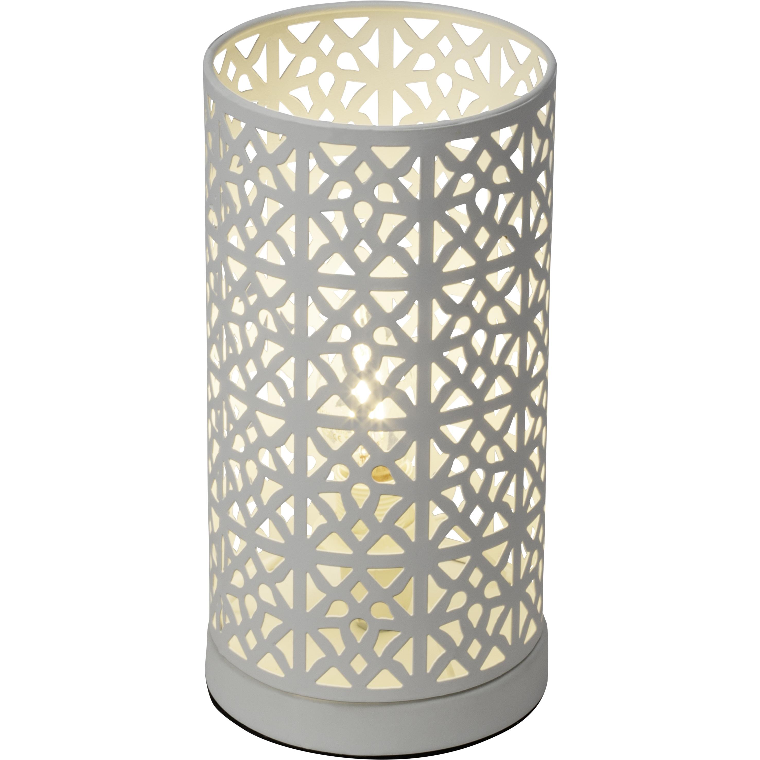 Brilliant Leuchten Nour Tischleuchte weiß