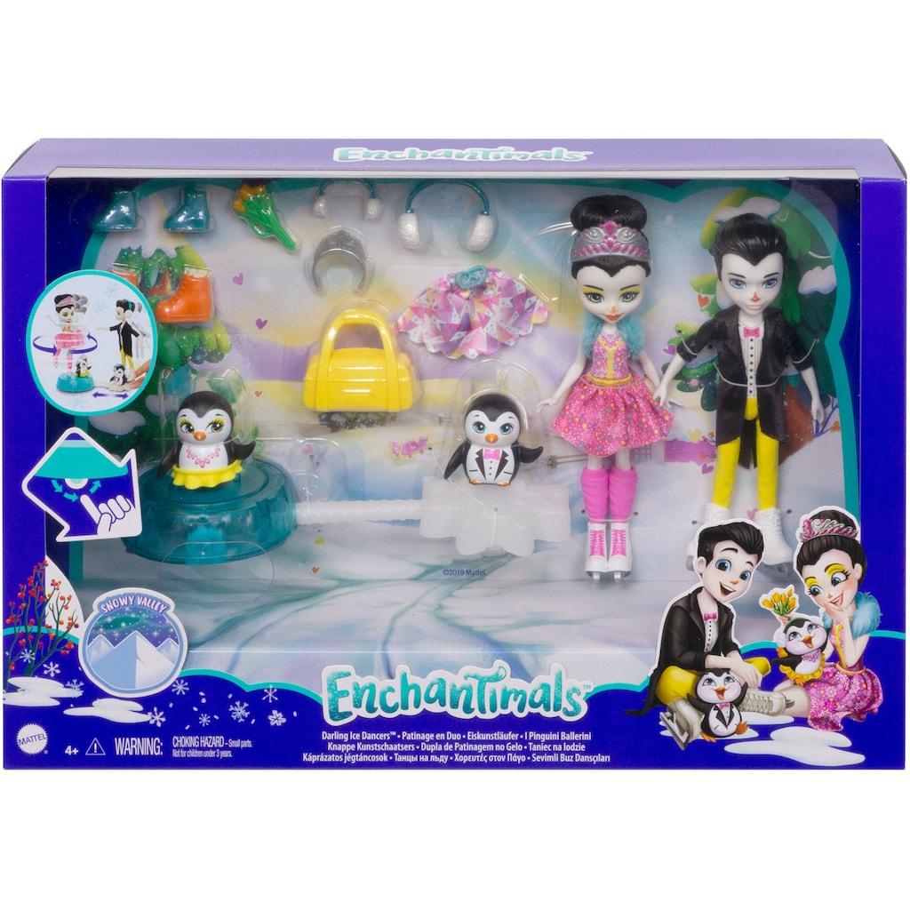 Enchantimals Anziehpuppe »Enchantimals Eiskunstläufer«, mit Patterson Penguin und Preena Penguin