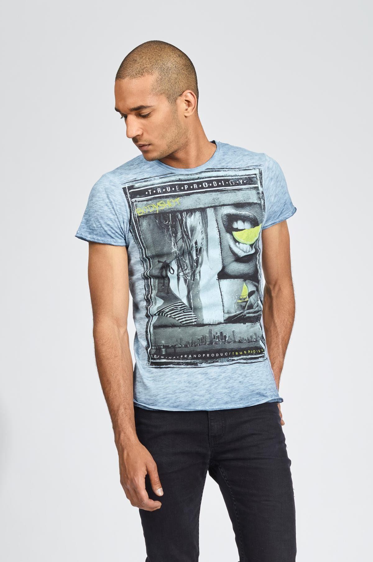 trueprodigy T-Shirt Bodyshot blau Herren Shirts