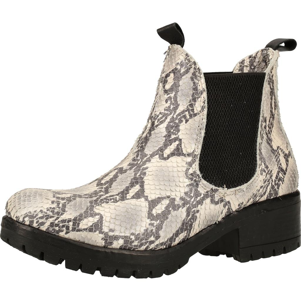 Lazamani Stiefelette »Leder/Textil«