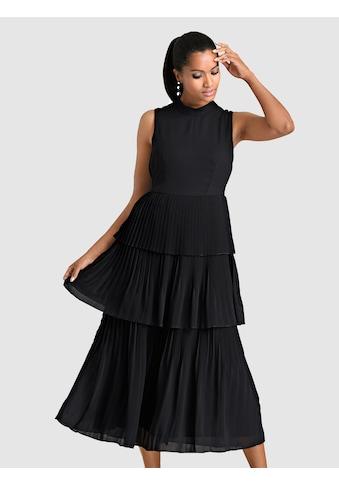 Alba Moda Kleid in Chiffon - Lagen gearbeitet kaufen