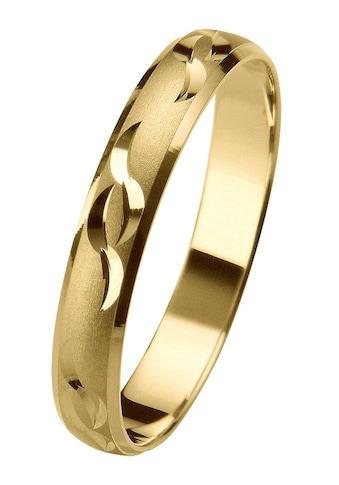 Firetti Trauring mit Gravur »glatt, sandmatt, Diamantschnitt, 3,5 mm breit«, Made in... kaufen