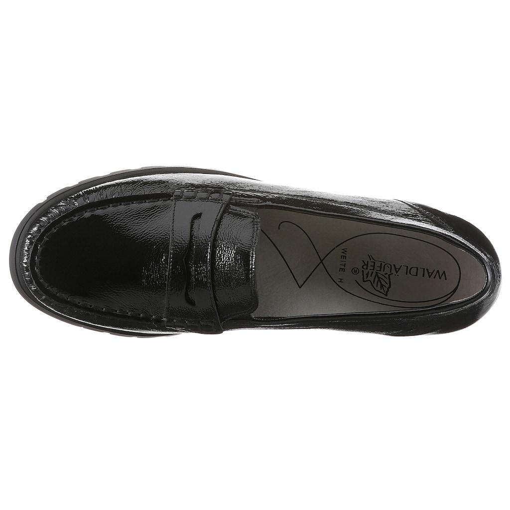 Waldläufer Slipper »HEGLI«, aus Lackleder, in komfortabler Schuhweite H