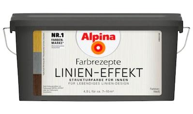 ALPINA Spezialfarbe »Farbrezepte  -  Linien - Effekt«, 4,5 l, matt kaufen