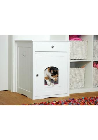 DOBAR Katzenhaus »Mohrle«, BxLxH: 48x52x63 cm, weiß kaufen