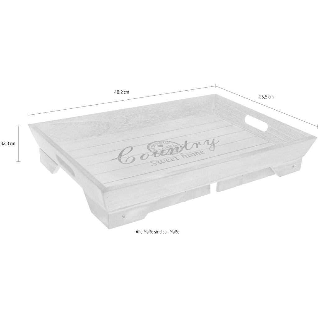 Myflair Möbel & Accessoires Tablett »Ida«, mit Füßen