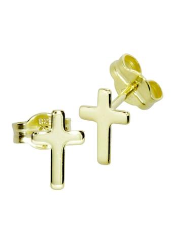 OSTSEE - SCHMUCK Paar Ohrstecker »Kreuz Gold 333/000 ,« kaufen