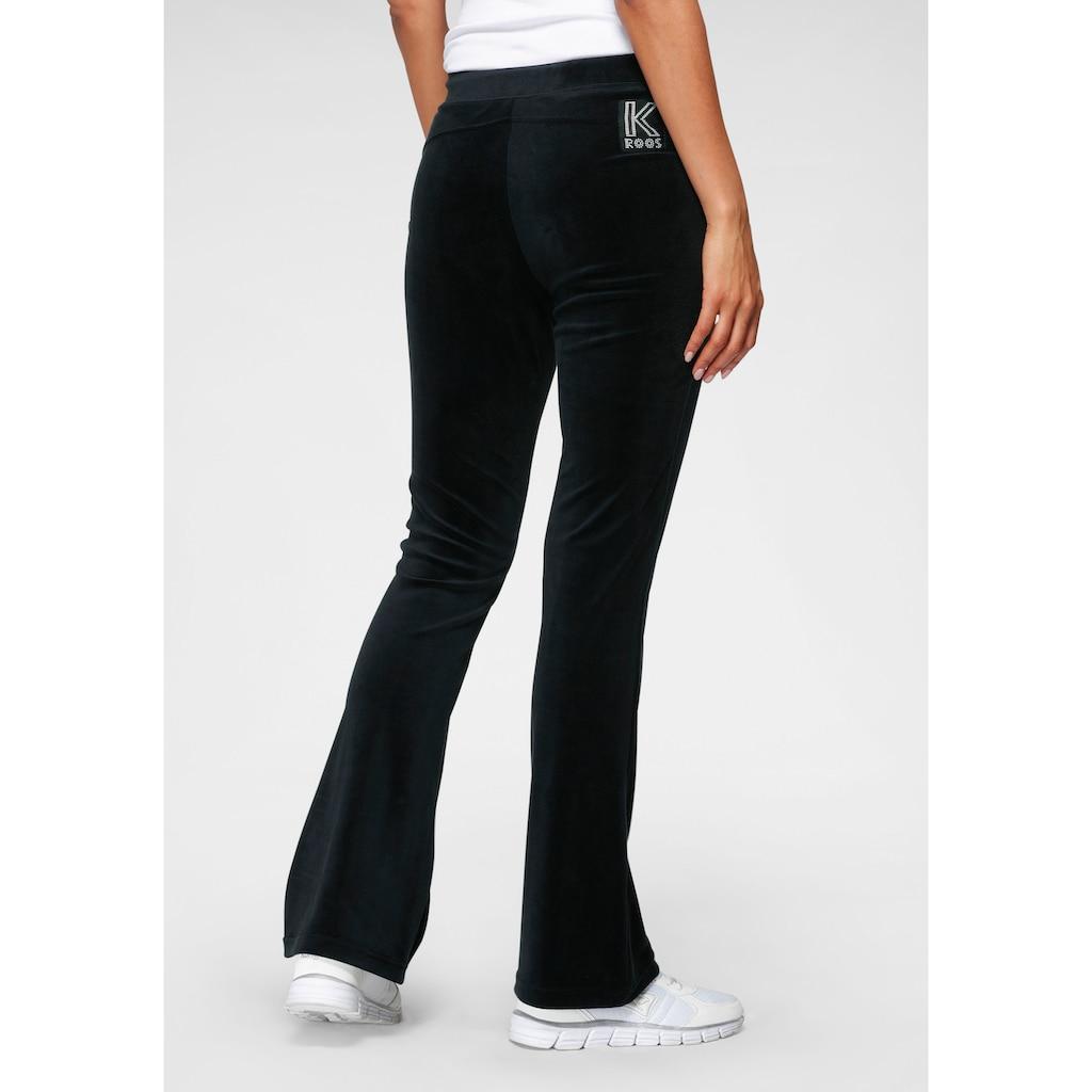 KangaROOS Jazzpants, aus weichem Nicky-Samt mit collem Nieten-Logo - NEUE KOLLEKTION