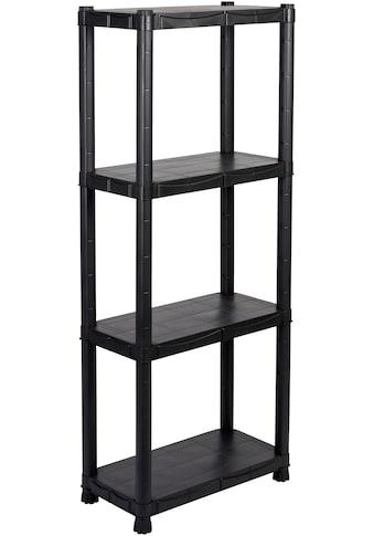 """Kreher Steckregal »Design 12""""«, B/T/H: 60x30x143 cm, mit 4 Böden und Ziernaht kaufen"""