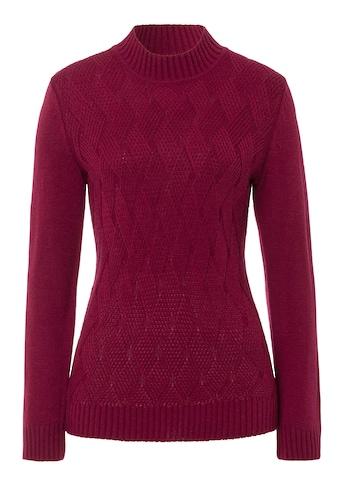 Pullover mit Rautenstruktur - Muster im Vorderteil kaufen