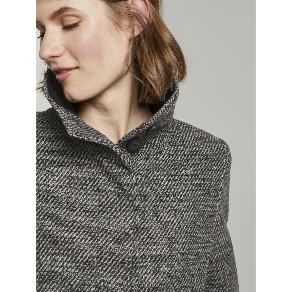 TOM TAILOR Langjacke »Mantel aus Tweed mit Stehkragen«