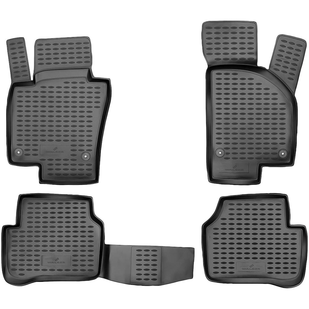 WALSER Passform-Fußmatten »XTR«, VW, Passat, Kombi-Stufenheck, (4 St., 2 Vordermatten, 2 Rückmatten), für VW Passat (B7) BJ 2010 - 2014