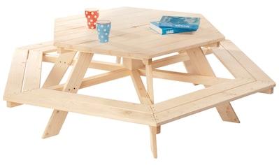 Pinolino® Kindersitzgruppe »Nicki«, Picknicktisch, BxHxT: 162x162x50 cm kaufen