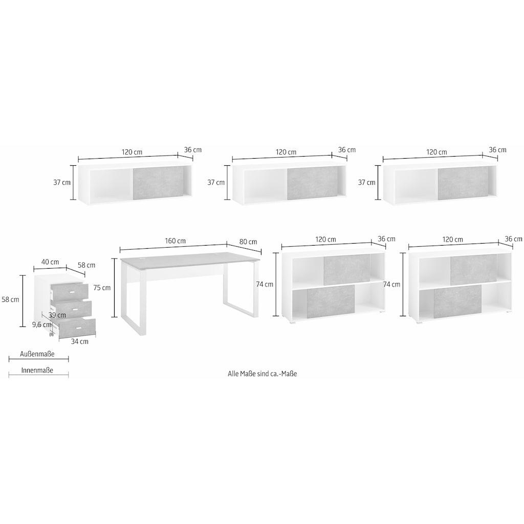 GERMANIA Büro-Set »Altino«, (Set, 7 St.)