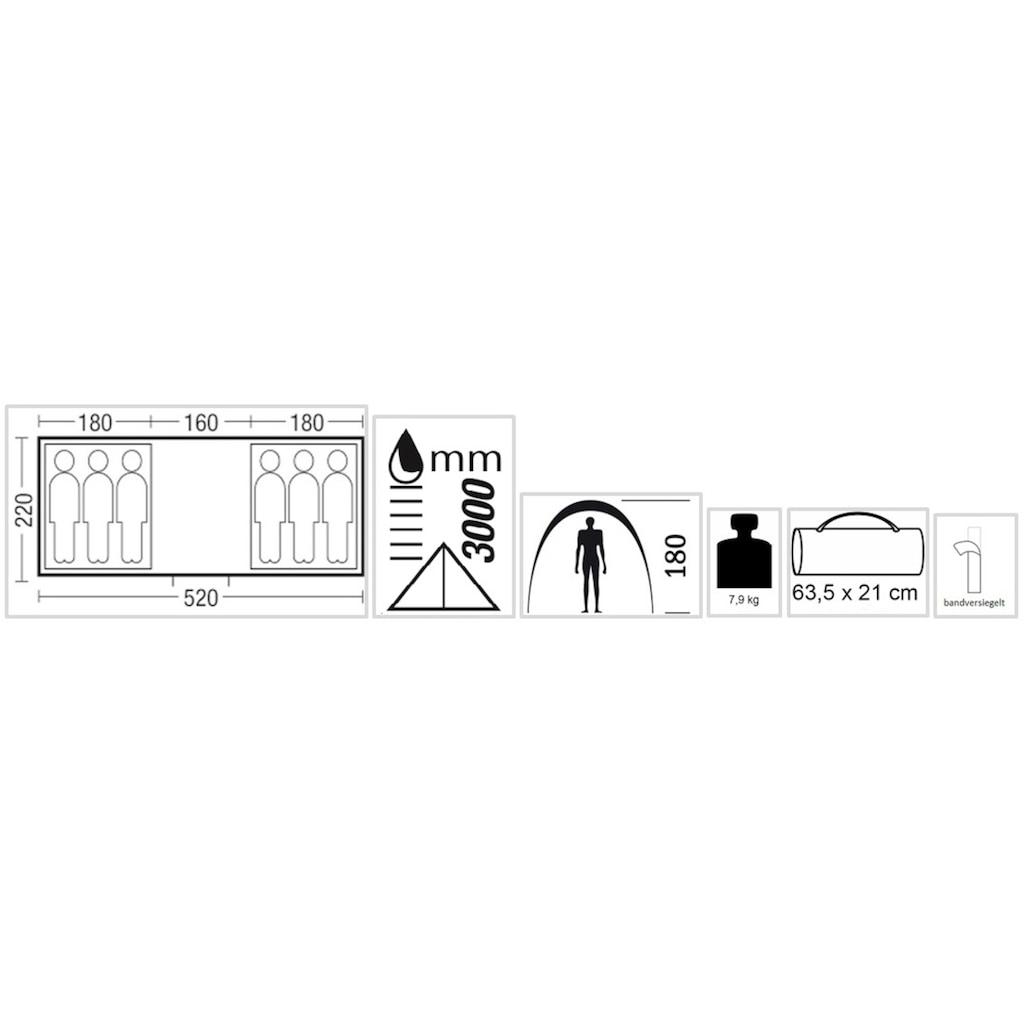 EXPLORER Tunnelzelt »Sierra 6«, 6 Personen