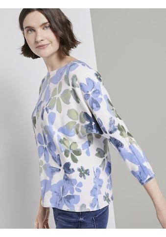 TOM TAILOR Strickpullover »Pullover mit floralem Print« kaufen
