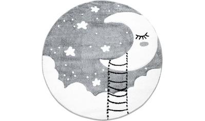 Carpet City Kinderteppich »Bueno Kids 1314«, rund, 13 mm Höhe, Mond und Sterne Motiv kaufen