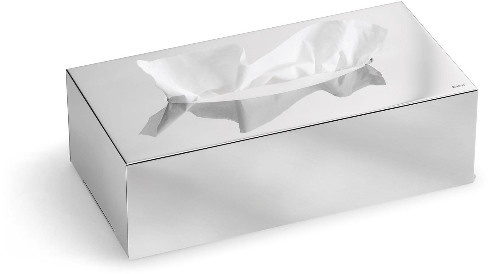 BLOMUS Papiertuchbox Kleenex-Box -NEXIO- poliert silberfarben Bad Sanitär