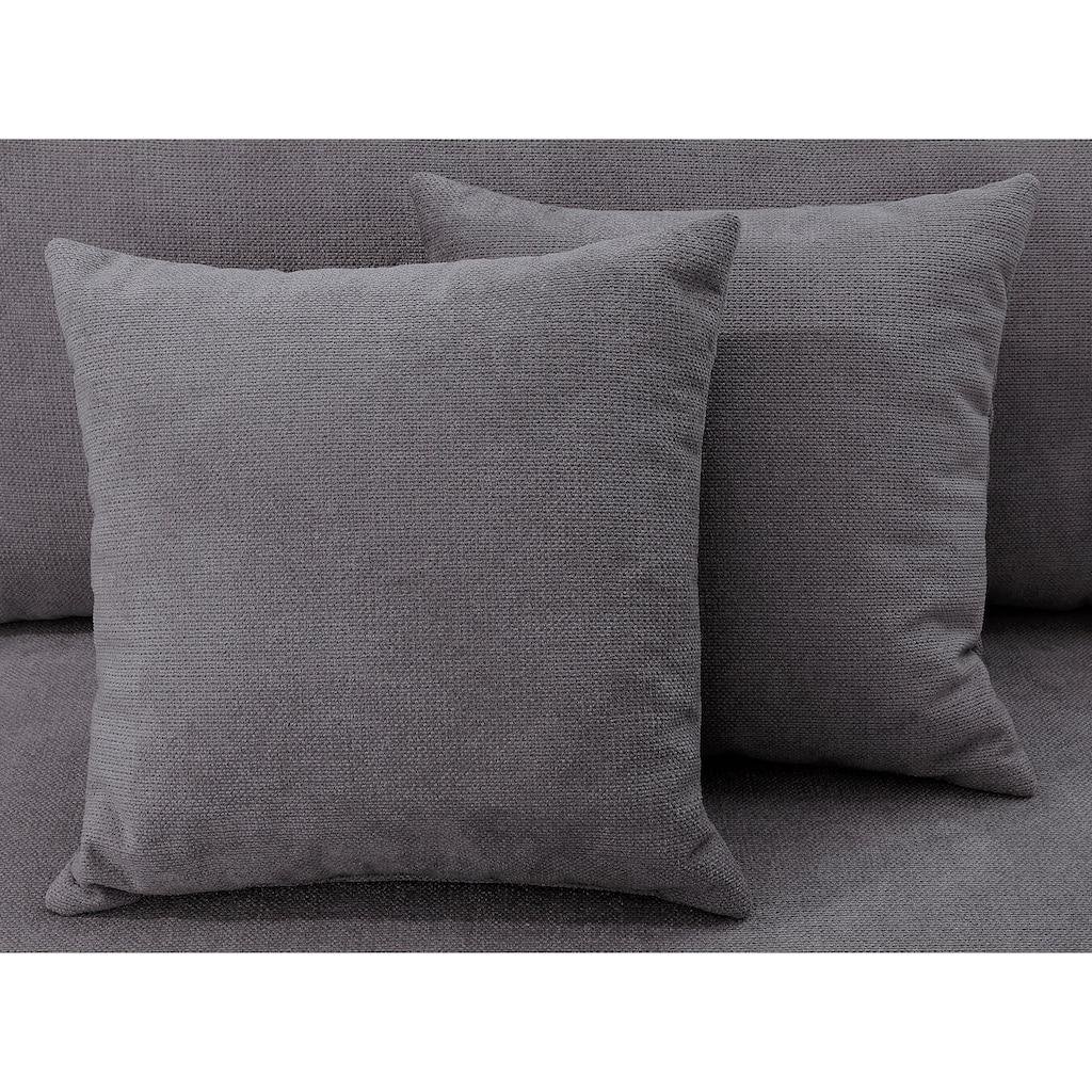 Home affaire Big-Sofa »Stanza Luxus«, Hohe Belastbarkeit pro Sitzplatz: 140kg. 2 Zierkissen, Keder, B/T/H: 254/113/89 cm