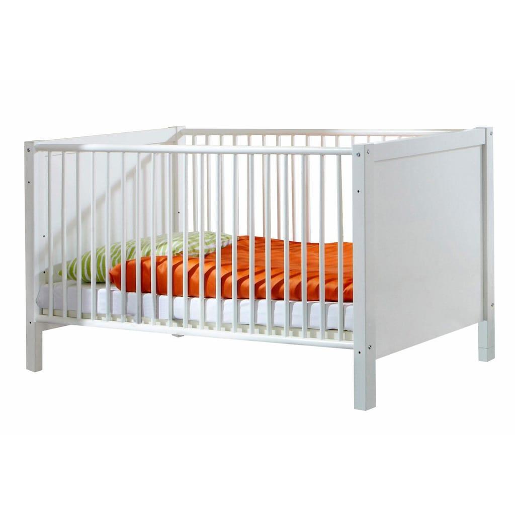 Babyzimmer-Komplettset »Helsingborg«, (Set, 3 St.), Bett + Wickelkommode + 3 trg. Schrank