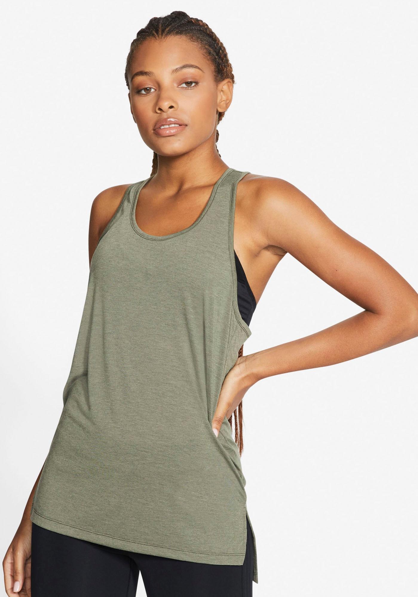 Nike Yogatop Yoga Women's Tank grün Damen Trägertops Tops