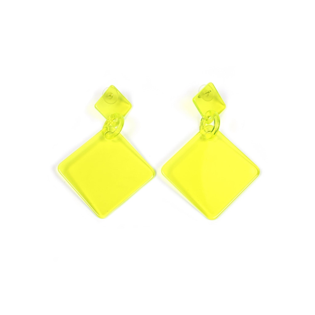 J.Jayz Paar Ohrstecker »in quadratischer Form, neon«