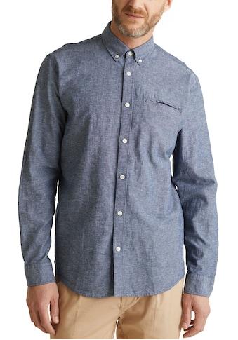 Esprit Langarmhemd, in melierter Optik kaufen