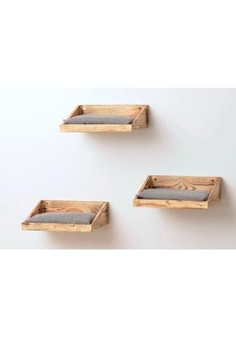 SILVIO design Katzen-Wandregal, 3er Set, BxLxH: 28x120x45 cm kaufen