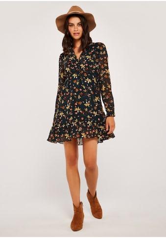 Apricot Druckkleid »Autumn Floral Chiffon Dress«, mit Rüschen kaufen