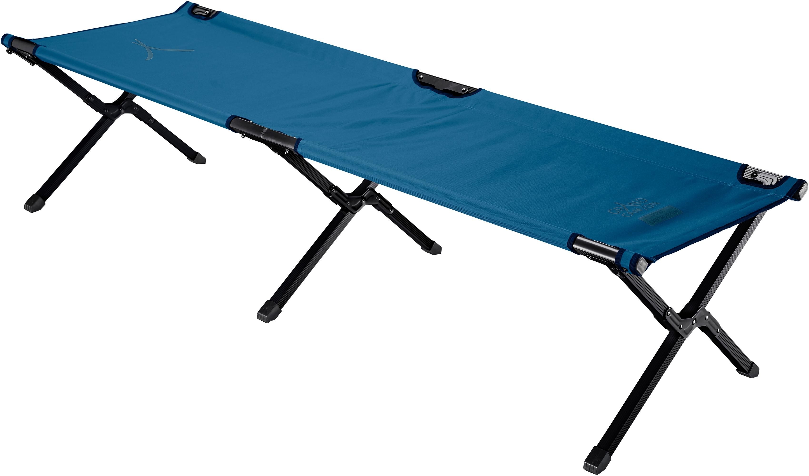 GRAND CANYON Feldbett TOPAZ CAMPING BED blau Campingmöbel Camping Schlafen Outdoor