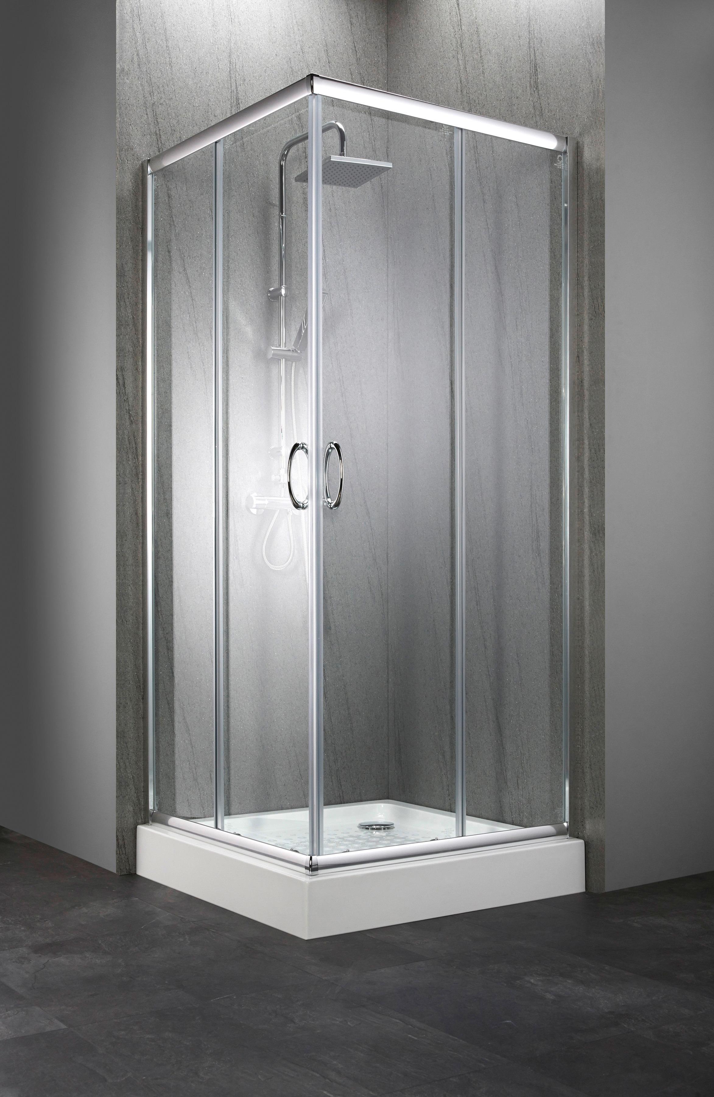 Komplett-Set: Eckdusche »Summer«, Eckeinstieg, inkl. Duschwanne, BxT: 90 x  90 cm online bestellen | BAUR