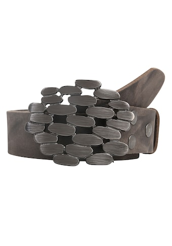 RETTUNGSRING by showroom 019° Ledergürtel »Wasserbüffel«, mit antiker Stein-Schließe kaufen