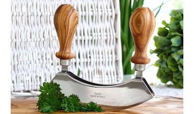 Olivenholz-erleben Wiegemesser, in Handarbeit gefertigt kaufen