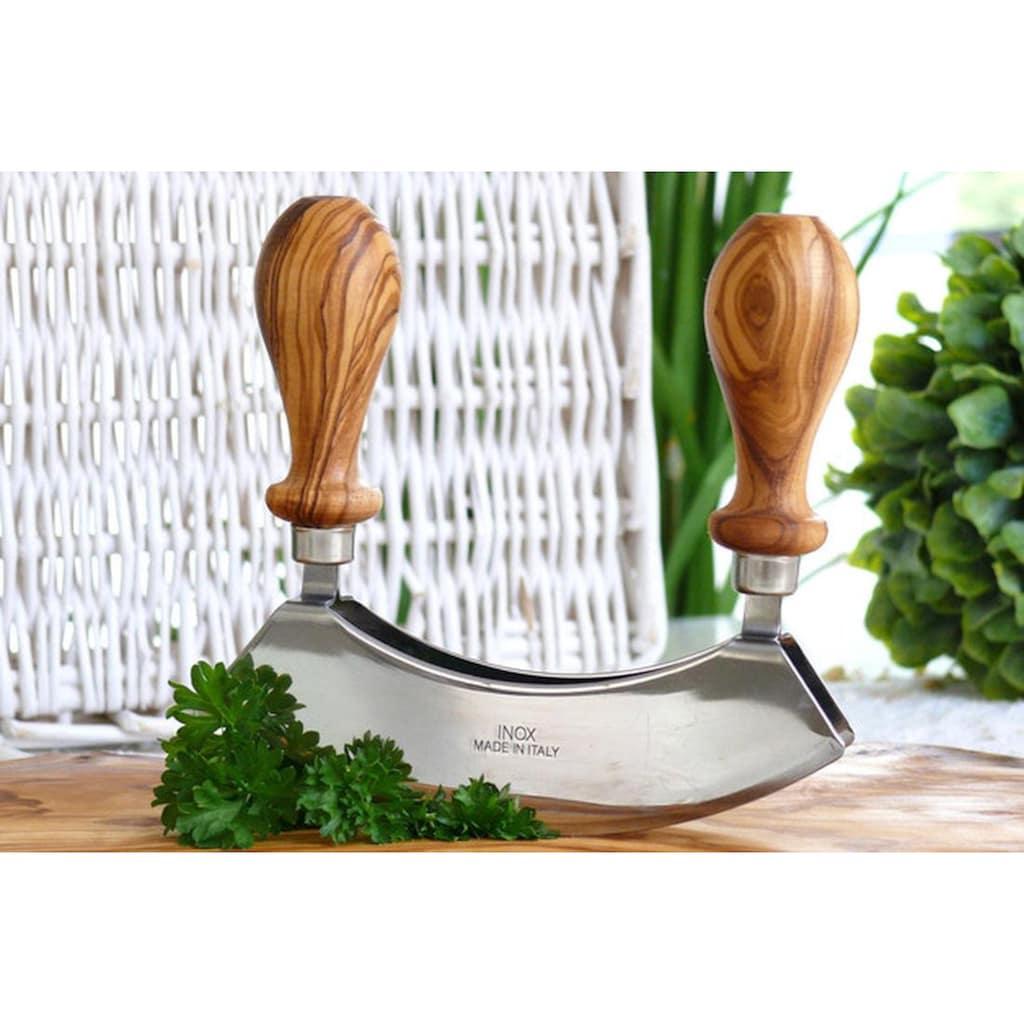 Olivenholz-erleben Wiegemesser, (1 tlg.), in Handarbeit gefertigt