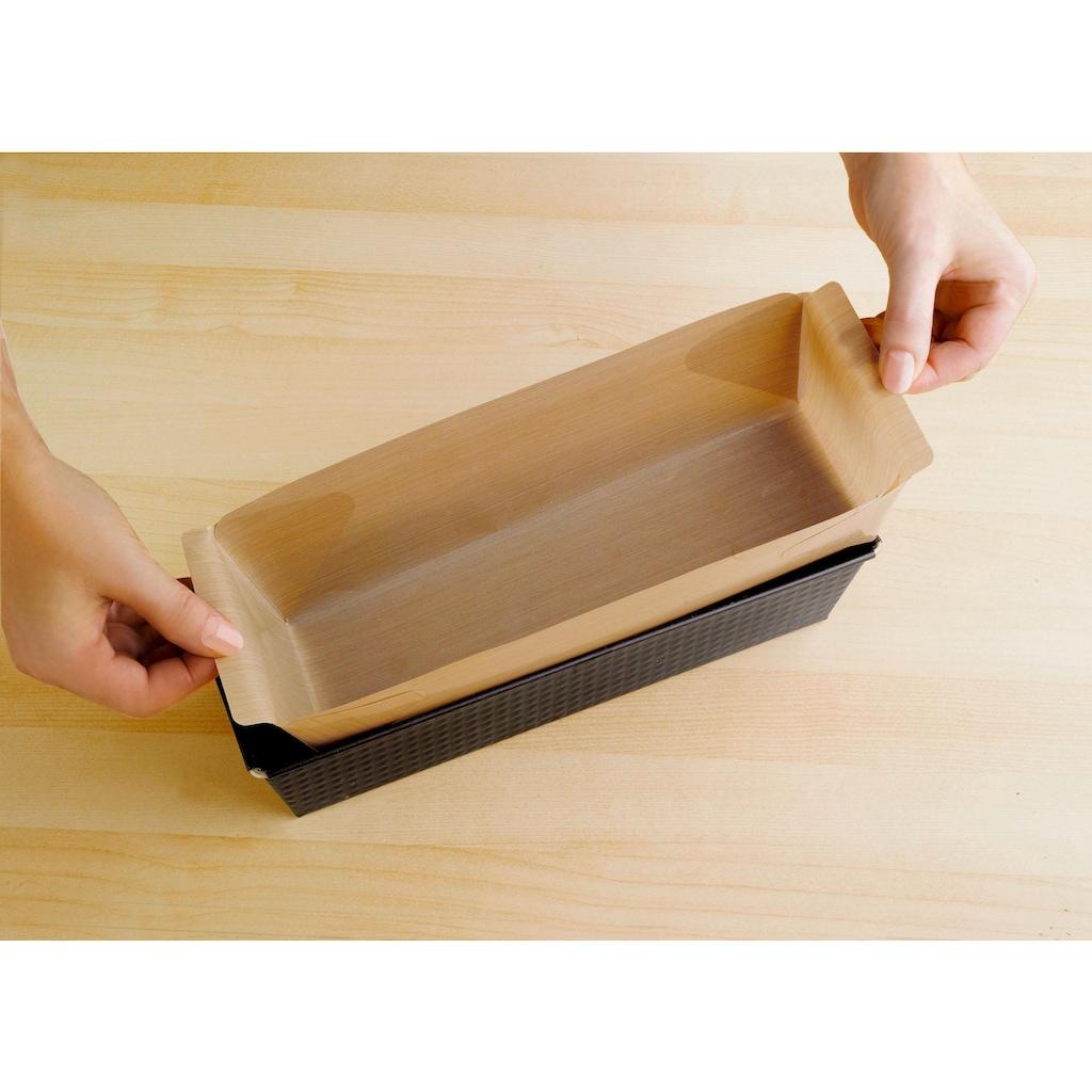 WENKO Backpapier »Backform-Zuschnitt«, mit Antihaft-Beschichtung, Set bestehend aus 1x rund, 1x eckig