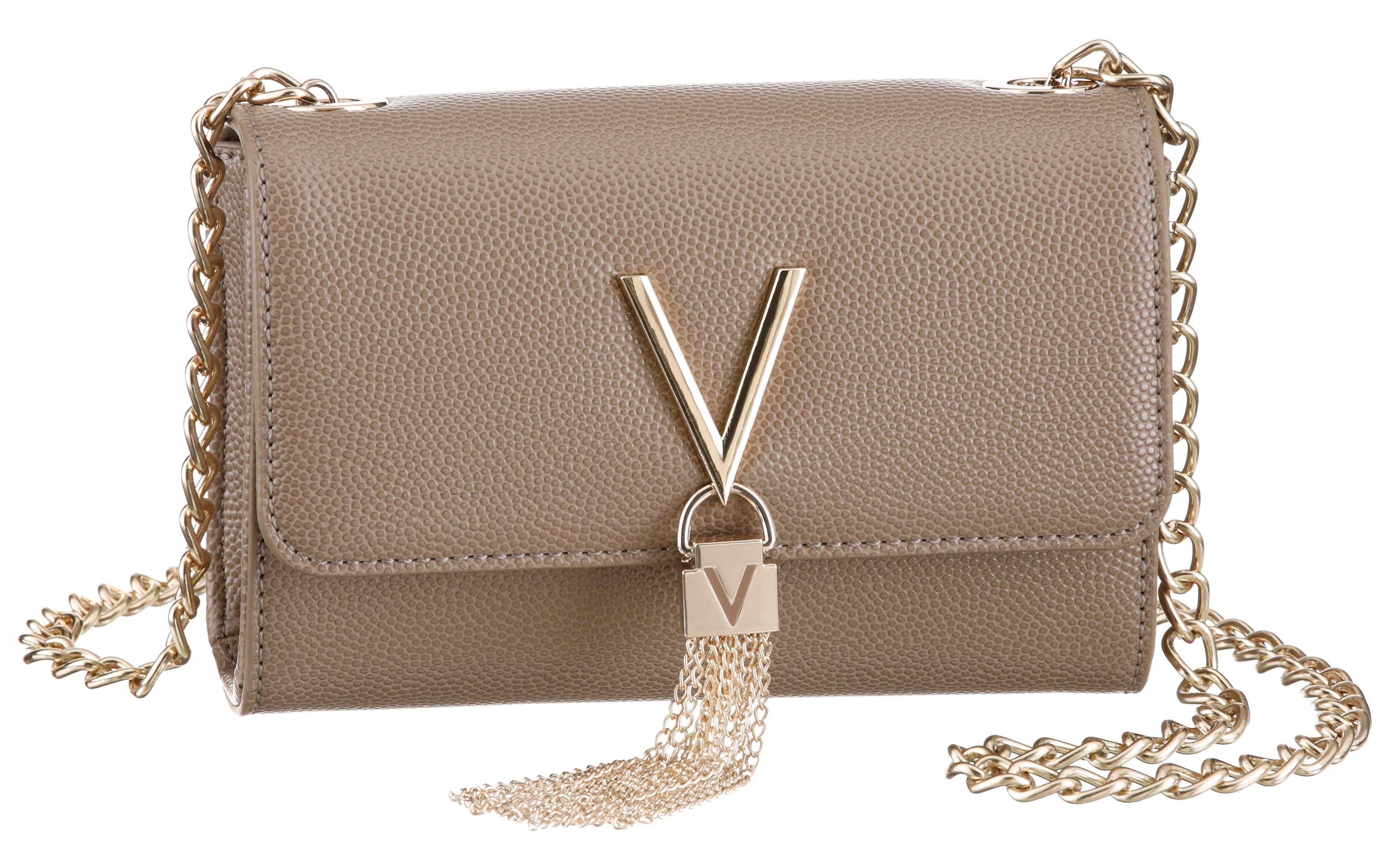 valentino bags -  Clutch Divina, mit silberfarbenen Details