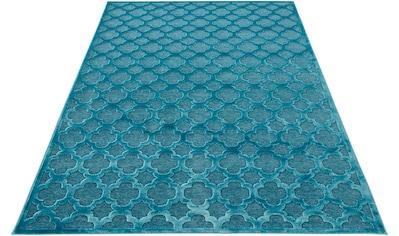 MINT RUGS Teppich »Bryon«, rechteckig, 4 mm Höhe, Viskose Glanz, Hoch-Tief Struktur,... kaufen