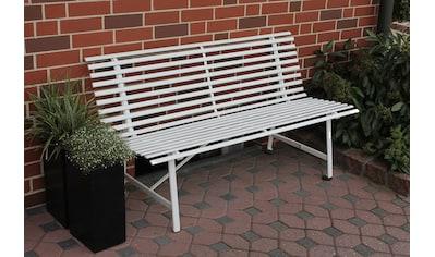 LECO Gartenbank , Stahl, 150x62x81 cm, weiß kaufen