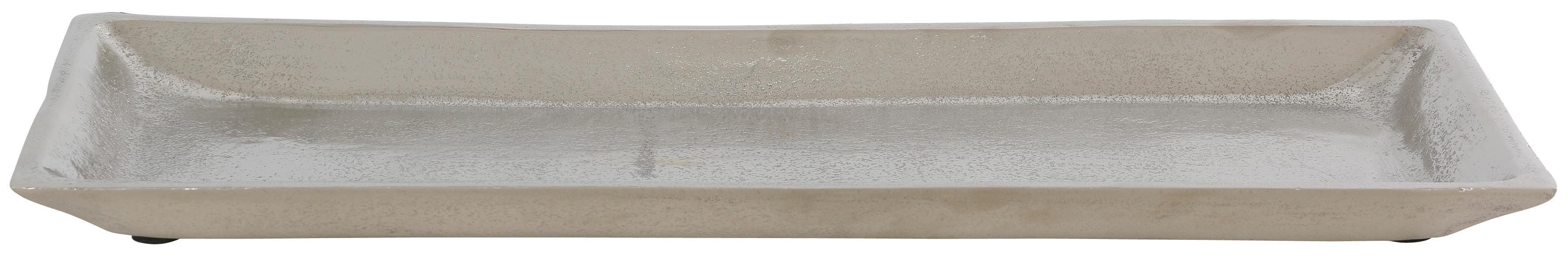 Dekoschale, aus Aluminium silberfarben Dekoschale Dekoschalen Dekotabletts Deko Wohnaccessoires
