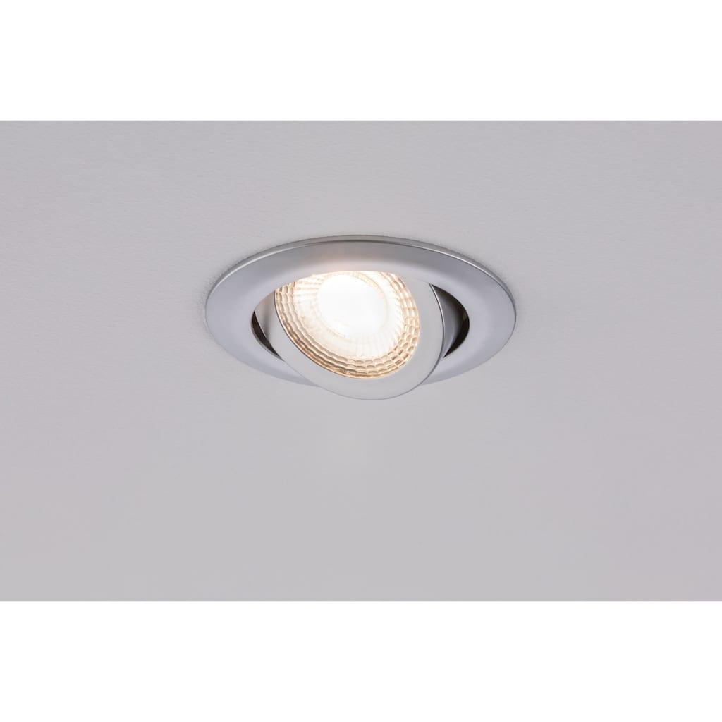 Paulmann LED Einbaustrahler »3er-Set schwenkbar 3x6W 3.000K Chrom matt«, 3 St., Warmweiß