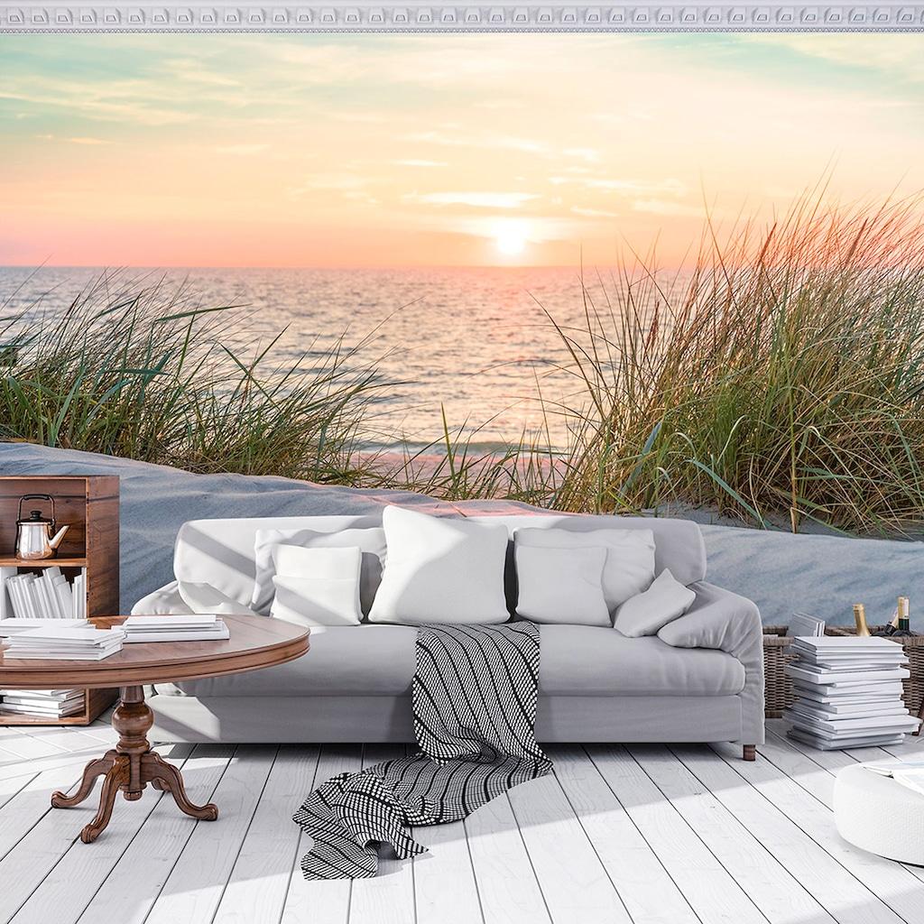 Consalnet Fototapete »Sonnenuntergang Strand«, Motiv