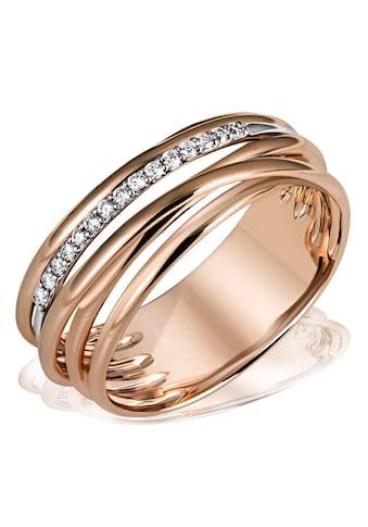 goldmaid Damenring 585/- Rotgold 15 Diamant 0,11 ct. SI/H kaufen