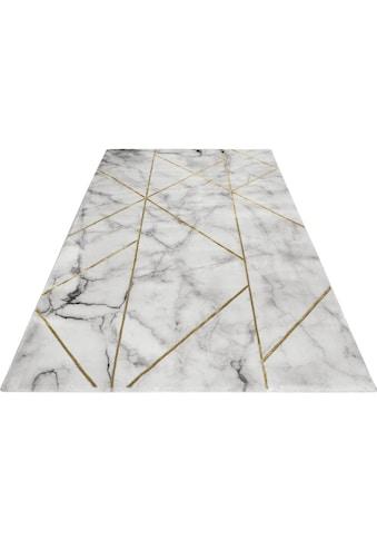 Wecon home Teppich »#M.A.R.B.L.E & G«, rechteckig, 12 mm Höhe, Marmor Struktur, Kurzflor, Wohnzimmer kaufen
