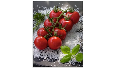 Artland Glasbild »Tomaten Rispe auf Salz«, Lebensmittel, (1 St.) kaufen