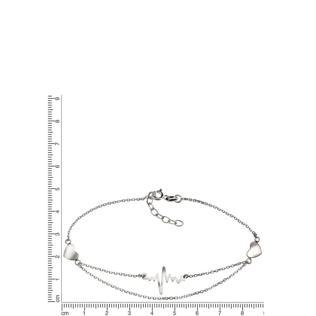 Firetti Fußkette »Herzschlag«, mit symbolischen Elementen