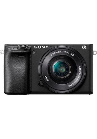 Sony Systemkamera »ILCE-6400LB - Alpha 6400 E-Mount«, Bluetooth-WLAN (Wi-Fi)-NFC, 4K Video, 180° Klapp-Display, XGA OLED Sucher, L-Kit 16-50mm Objektiv kaufen