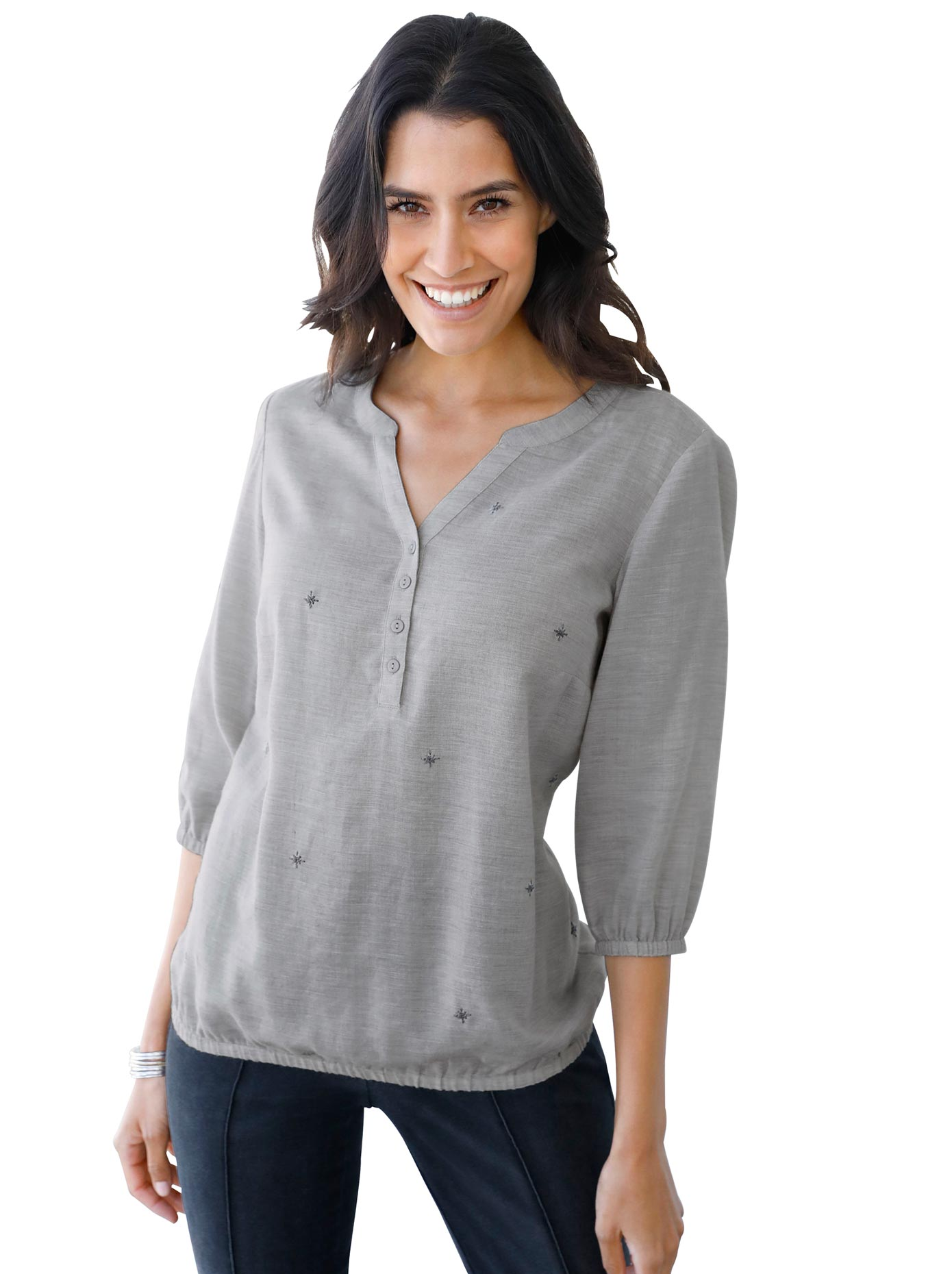 Classic Inspirationen Bluse in Flanell-Optik
