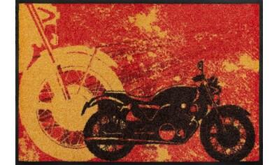 wash+dry by Kleen-Tex Fußmatte »Motorbike«, rechteckig, 7 mm Höhe, Fussabstreifer, Fussabtreter, Schmutzfangläufer, Schmutzfangmatte, Schmutzfangteppich, Schmutzmatte, Türmatte, Türvorleger, In- und Outdoor geeignet, waschbar kaufen