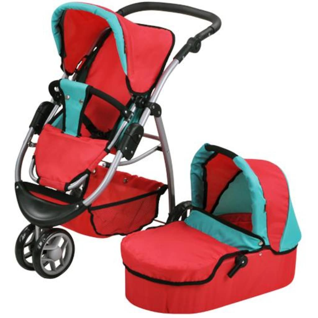 Knorrtoys® Puppenwagen »Cico - red green«, 2-in-1
