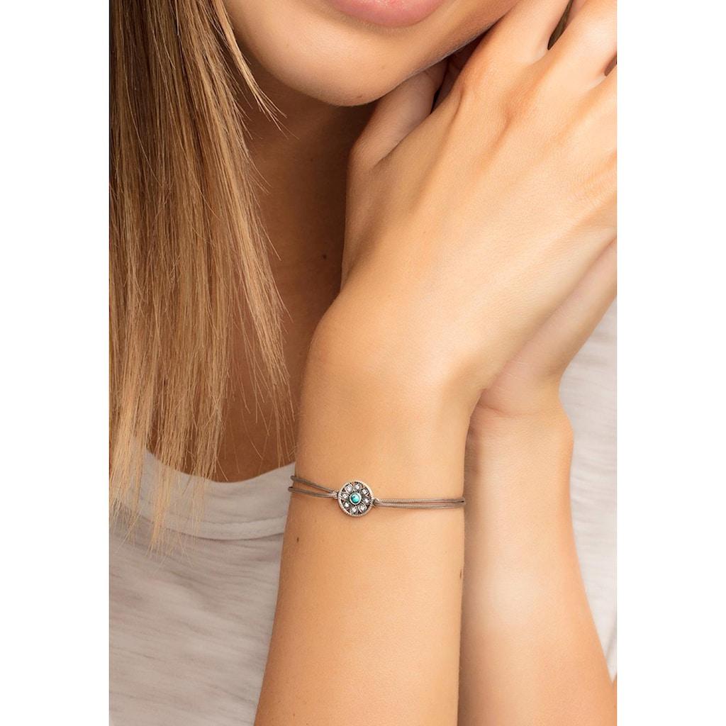 THOMAS SABO Armband »Ethno Amulett, Little Secret, LS022-378-5-L20v«, mit Zirkonia und imit. Türkis